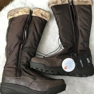 George winter boots-Brown-Size 10